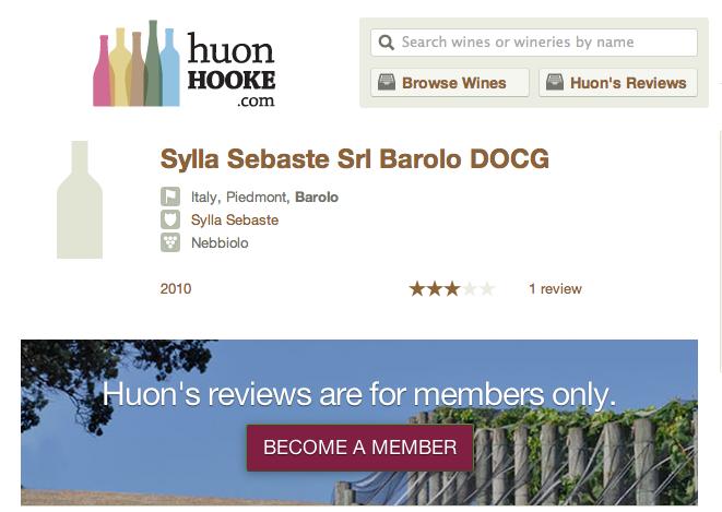 Huon Hooke Barolo