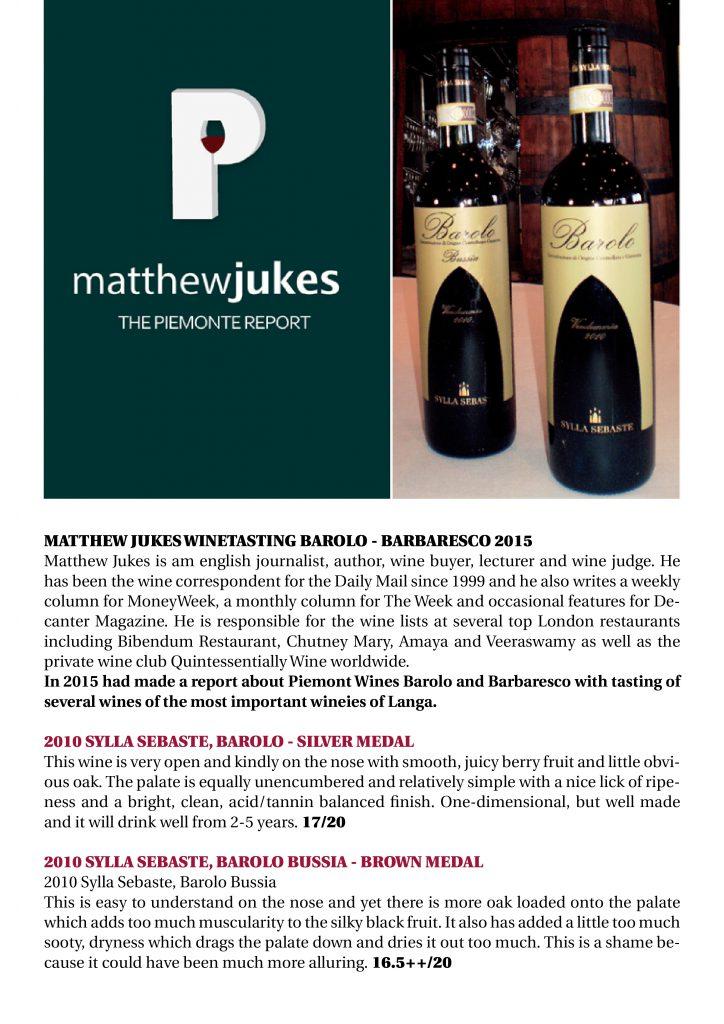 Matthew Jukes report