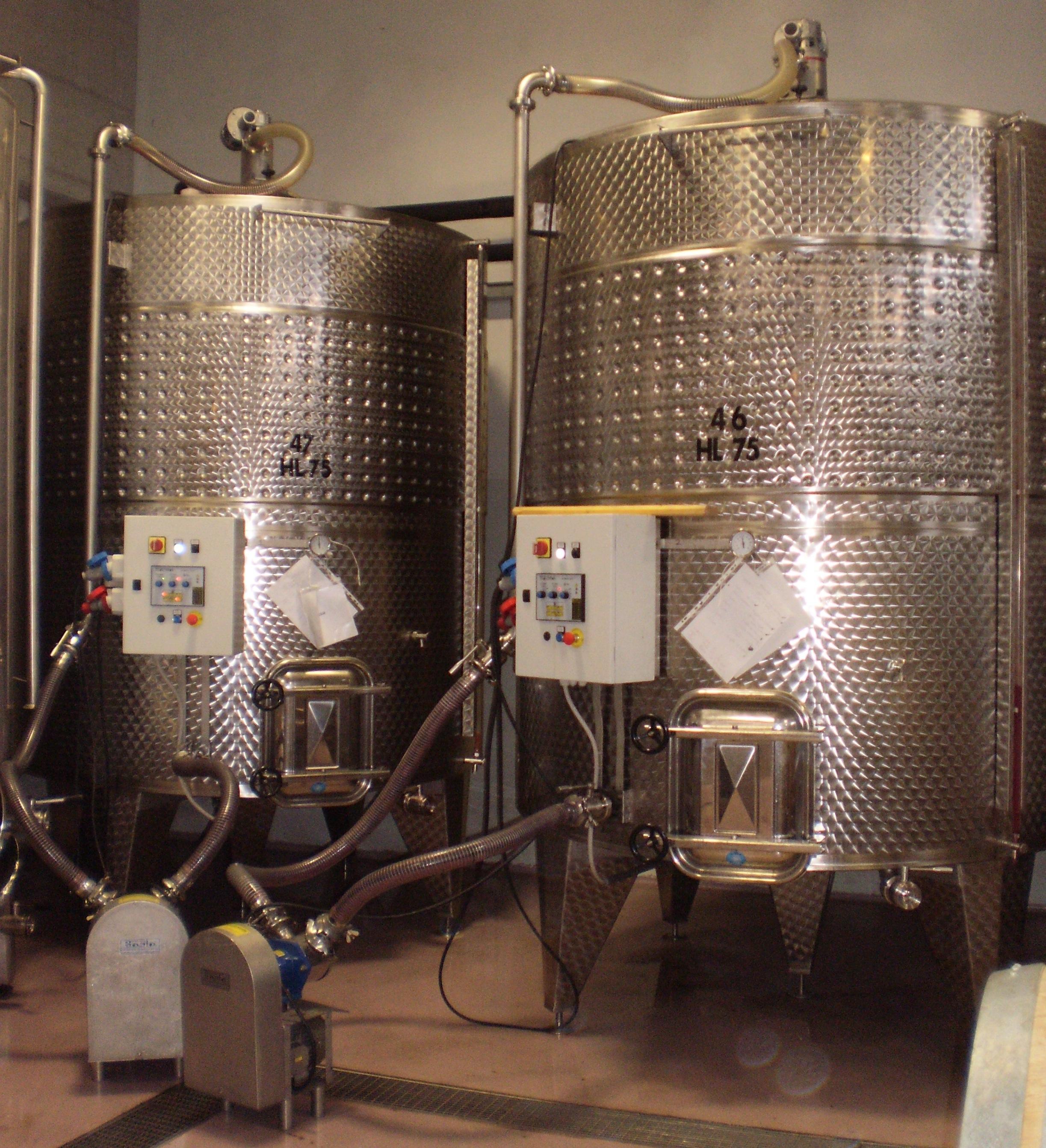 I fermentini della Cantina Sylla Sebaste di Barolo